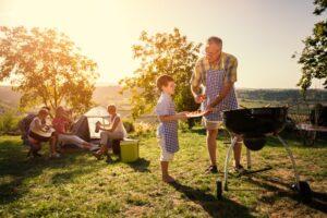 Camping med grill